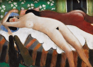 Artwork by Henry Wanton  Jones, Reclining Nude