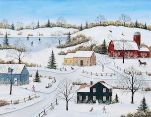 Artwork by Sharon Mark, Quebec Winter