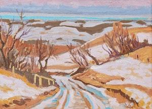 Artwork by Illingworth Holey Kerr, Hill Road at Marten's