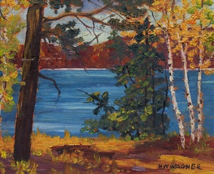 Artwork by Herbert William Wagner, Autumn Landscape