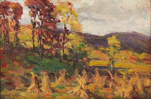 Artwork by Farquhar McGillivray Strachan Knowles, On the Farm (on the Hudson)