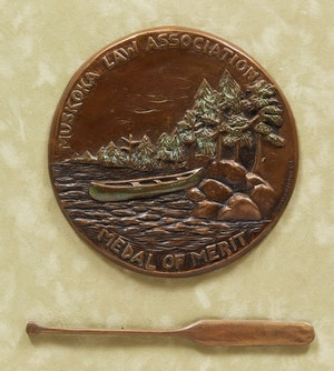 Artwork by Brenda Wainman Goulet, Muskoka Law Association Medal of Merit