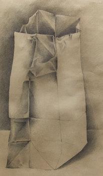 Artwork by Dennis Eugene Norman Burton, Paper Bag Study