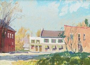 Artwork by George Franklin Arbuckle, Ontario Village