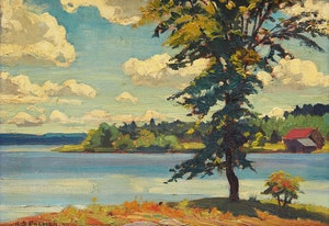 Artwork by Herbert Sidney Palmer, View from the Moorish Palace, Sturgeon Lake, 1930
