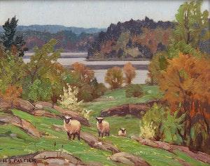 Artwork by Herbert Sidney Palmer, Spring Landscape