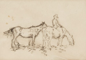 Artwork by Manly Edward MacDonald, Rider with Second Horse (2)
