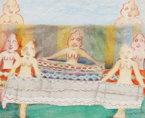 Artwork by Louis de Niverville, Seven Whimsical Figures