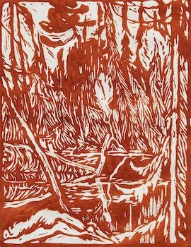 Artwork by James Edward Hervey MacDonald, Beaver Pond, Algoma