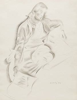 Artwork by Kathleen Francis Daly Pepper, Seated Figure