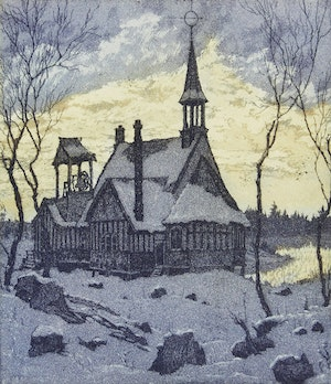 Artwork by Nicholas Hornyansky, Georgian Bay Church; Rockwood Mill