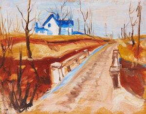 Artwork by Bert Weir, Snake Lane, Essex County