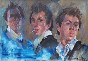 Artwork by Arthur Shilling, Self-Portrait
