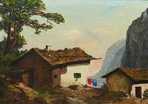 Artwork by Karel Uher, Bauernhof (Farm)
