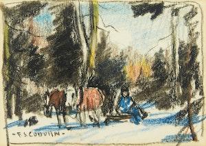 Artwork by Frederick Simpson Coburn, Untitled, Horses resting