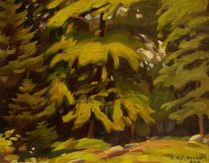 Artwork by Lawrence Arthur Colley Panton, Green Foliage at Autumn