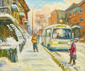 Artwork by Armand Tatossian, Rue Adam, Montreal