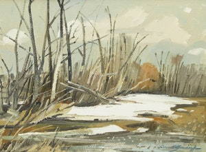 Artwork by George Lorne Holland Bouchard, Edge of a Field in Spring
