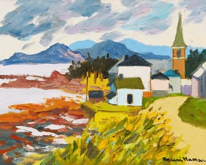 Artwork by Henri Leopold Masson, St-Felicité, Gaspésie