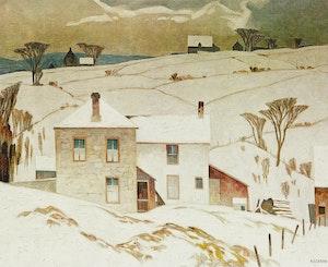 Artwork by Alfred Joseph Casson, March Day; Village House; Summer Storm; Village In Winter