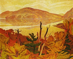 Artwork by Alfred Joseph Casson, Grey October Morning; Parry Sound; Valley Farm; Grey Day