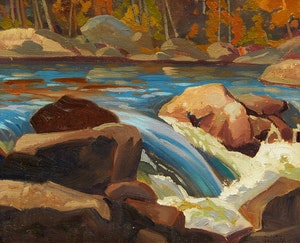 Artwork by Joachim George Gauthier, Palmer Rapids