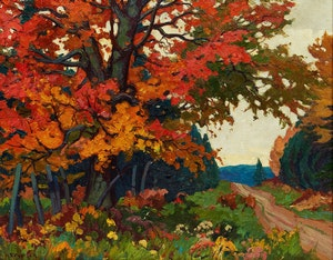 Artwork by Herbert Sidney Palmer, October Maple