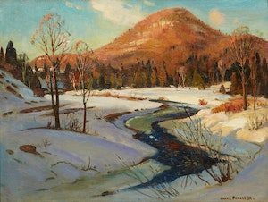 Artwork by Frank Shirley Panabaker, Winding River, Winter