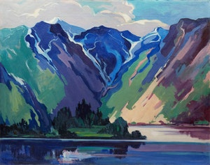 Artwork by Mildred Valley Thornton, Jervis Inlet