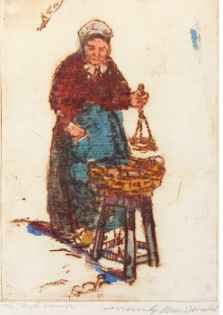 Artwork by Manly Edward MacDonald, The Fish Vendor