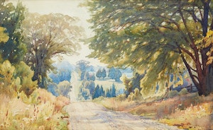 Artwork by Frederick Henry Brigden, Country Road