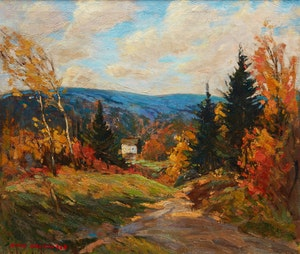 Artwork by Manly Edward MacDonald, Autumn Landscape