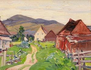 Artwork by Frederick William Hutchison, Summer, St. Urbain