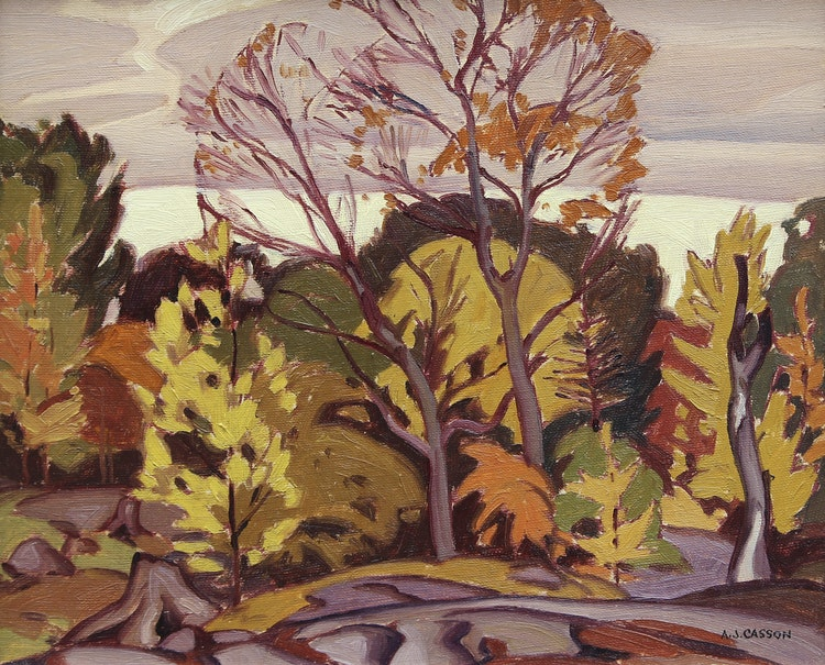 Artwork by Alfred Joseph Casson,  Untitled (Redstone Lake)