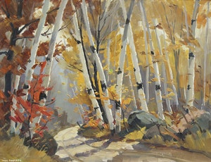 Artwork by Thomas Keith Roberts, Road to Long Lake - Madawaska Valley