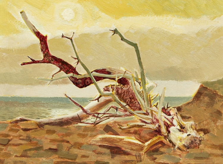 Artwork by Alan Caswell Collier,  Memory of Time and Wind