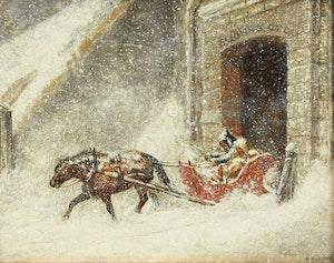 Artwork by (Attributed to) Cornelius Krieghoff, St. John's Gate, Quebec