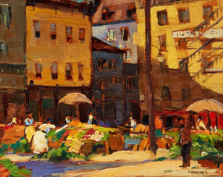 Artwork by Frank Leonard Brooks,  Quebec Market