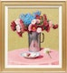 Thumbnail of Artwork by Frederick Bourchier Taylor,  Mixed Flowers in Aluminum Jug