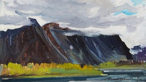 Artwork by George Lorne Holland Bouchard, Mackenzie Range, N.W.T.