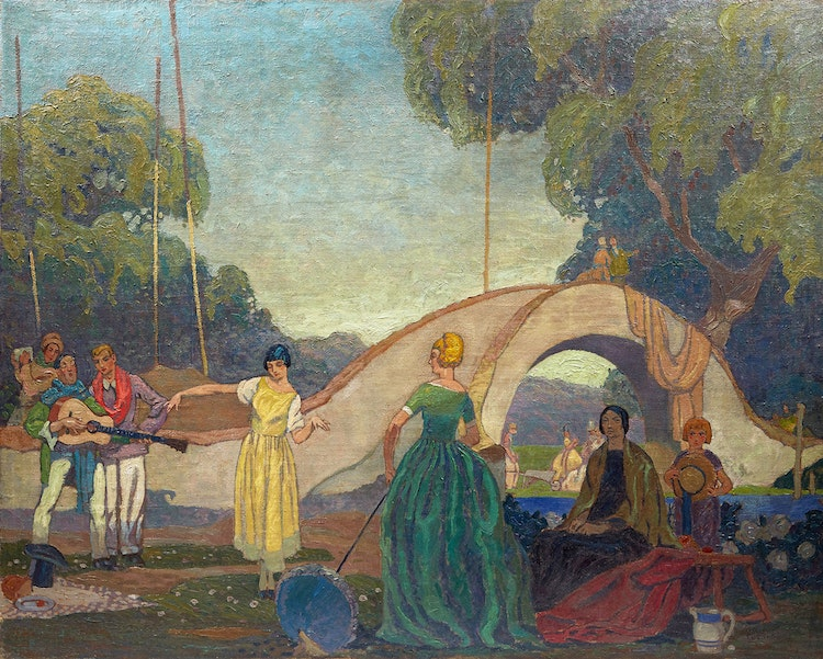 Artwork by Stanley Francis Turner,  Untitled (Summer Afternoon)