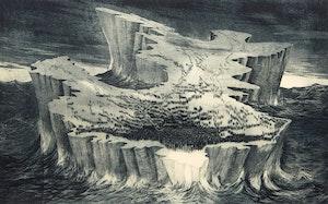 Artwork by David Lloyd Blackwood, Great Lost Party Adrift