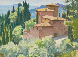 Artwork by George Franklin Arbuckle, Via Montebeni near Fiesole