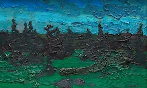 Artwork by Bruno Joseph Bobak, Landscape #2