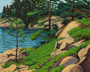 Artwork by Frederick Bourchier Taylor, Landscape, Georgian Bay, Ont.