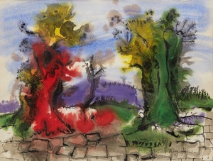 Artwork by Paul-Vanier Beaulieu, Untitled (Landscape with Trees)