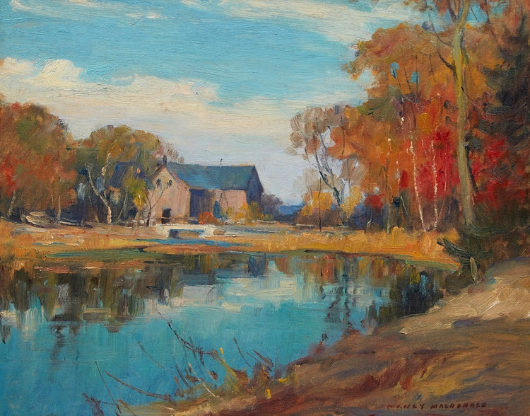 Artwork by Manly Edward MacDonald,  Summer's End, Prince Edward County