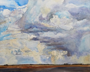 Artwork by Dorothy Elsie Knowles, Prairie Sky