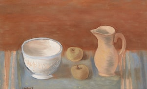 Artwork by Stanley Morel Cosgrove, Still Life with Jug, Bowl and Apples