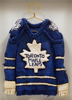 Artwork by Patrick Amiot, Maple Leafs Jersey